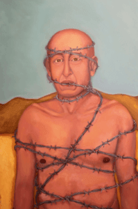Barbed man